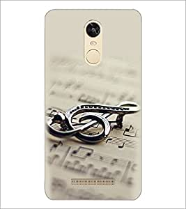 PrintDhaba Staff Notation D-2149 Back Case Cover for XIAOMI REDMI NOTE 3 (MEDIA TEK) (Multi-Coloured)