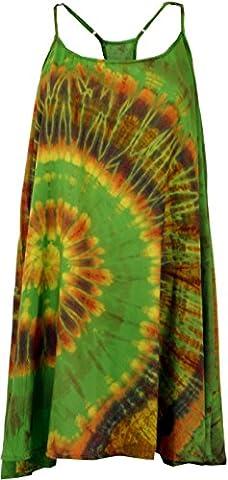 Batik Minikleid, Tunika Hippie chic, Strandkleid, Sommerkleid / Kurze Kleider
