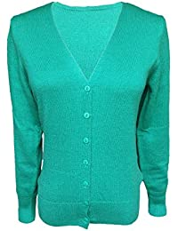Cardigan Verde Amazon Pullover it Maniche Maglioni Senza qC5pYwxB
