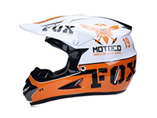 KeRuiLou Casco MTB da Motociclista Professionale Racing Motocross B01-2 XL
