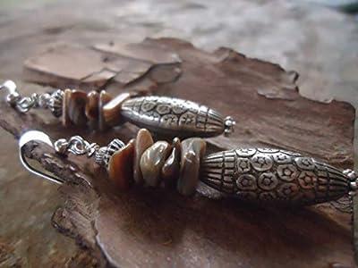 ? BOHO BALI STYL & Boucles d'oreilles en pierre nacrée ?