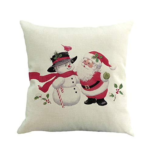 Moonuy 1 PC Weihnachten Kissenbezug Baumwolle Leinen Kissenbezug Sofa Car Home Taille Kissenbezug Werfen Hause Schlafzimmer Kissenbezug