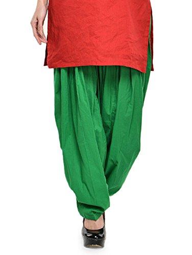 Stylenmart Women Cotton Solid Full Patiala Salwar (Stmapa078628 _Green _Free Size)