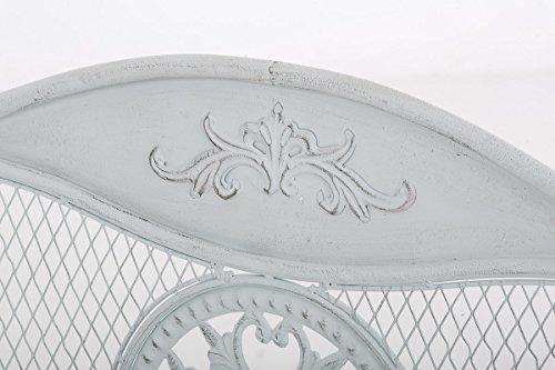 Gartenbank CP247, Metallbank 136cm ~ antik-weiß - 2