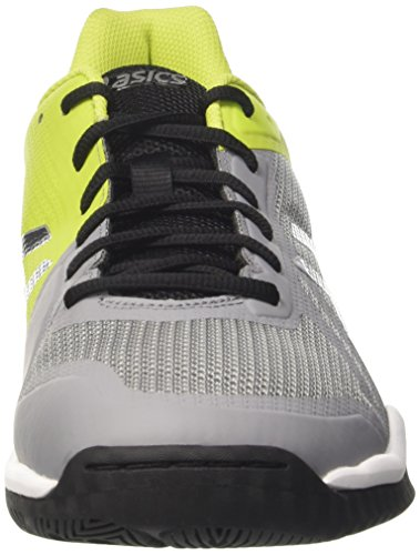 Asics Gel-Tactic, Chaussures de Volleyball Homme Multicolore (Aluminum/dark Grey/energy Gree)