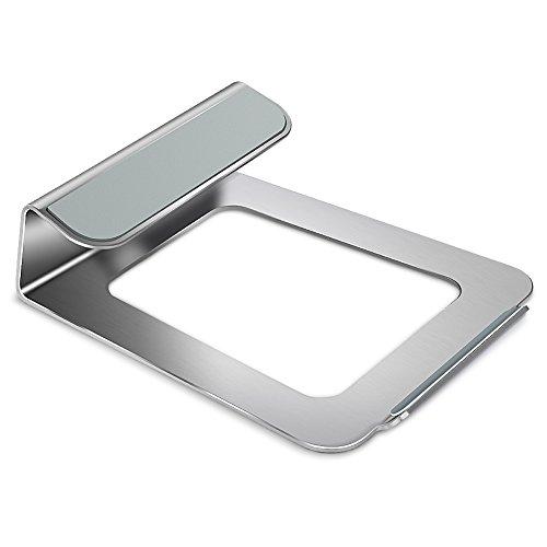 Notebook Stand Silber aus Aluminimlegierung Laptopständer für MacBook, MacBook Pro / Air ,Apple, HP, Lenovo, Dell, Acer, Samsung, Asus und andere Laptop von 10 bis 15 Zoll (25,1 x 22,1 x 7,4 cm) 22 Cm Computer-bildschirm