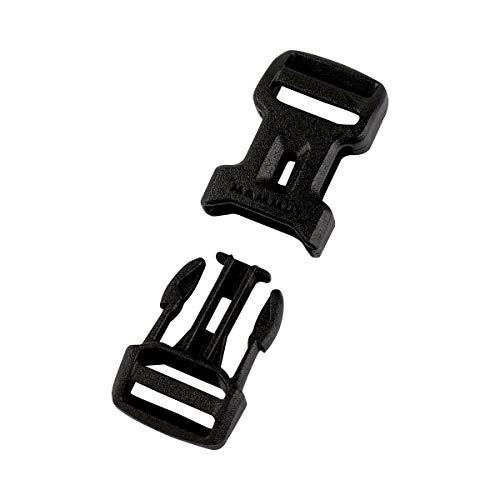 Mammut Dual Adjust Side Squeeze Buckle Ersatz-steckschnalle, Black, 38 mm -