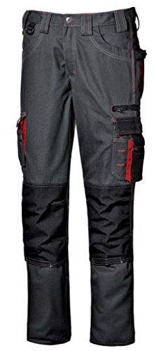 Pantalone da lavoro pantalone multitasche lavoro uomo lunghi Harrison colore antracite taglia 46-56 realizzato in poliestere e cotone Broken Twill marca Sir safety sistem (44, Antracite)
