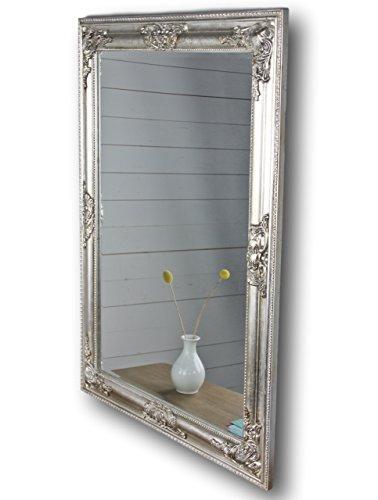 Miroir argent ancien 82 x 62 x miroir de salle de bain en bois style baroque sur pied