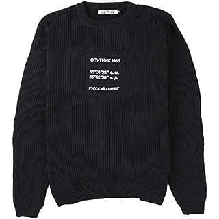 Sputnik 1985 Damen Knitted Sweater 'Russian Ark' Black, Größe M