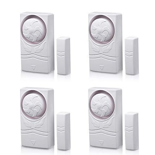 Wsdcam Magnetisch ausgelöste Alarme für Türen oder Fenster Home Security Fenster Tür Alarm Kit (10er-Pack), lauter 110 dB Alarm 4-er Packung Home-security-kit
