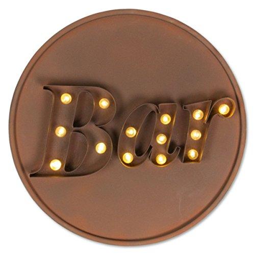 LED-Leuchtkasten MY BAR, braun, Ø 56 cm, Leuchtreklame (Leuchtreklame Für Bars)