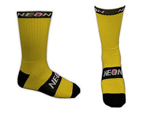 Calcetines ciclismo amarillo largos