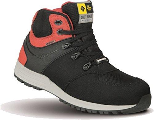 Chaussures de sécurité S32W4Rebel Bottes Safety Runners to Work For, noir noir/rouge