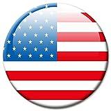 GUMA Magneticum 2601 Magnet Flagge USA - Reise Souvenir Kühlschrankmagnet Land Amerika Ø 50 mm - Magnete Länder Fahne für Kühlschrank Magnettafel Pinnwand Memoboard Whiteboard