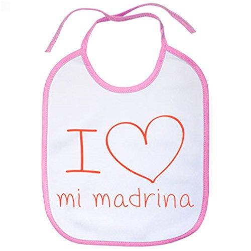 Babero I Love mi madrina - Rosa
