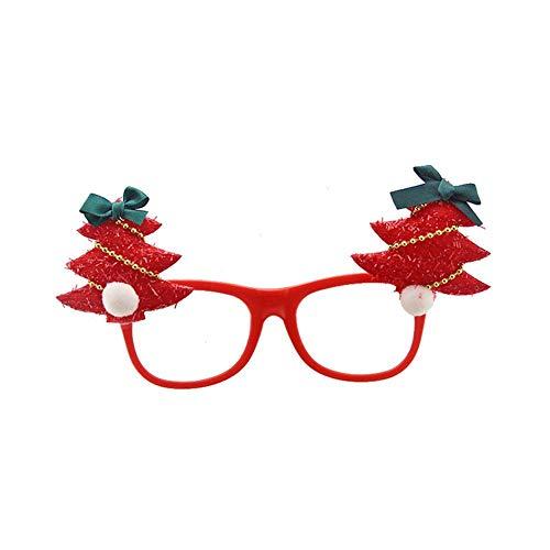 ALIAN Brillenfassungen für Mädchen Kinder Weihnachts Dekoration, Kinder Maskerade Verzierungen Brillengestell für Jungen Und Mädchen