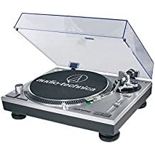 Audio-Technica AT-LP120 - Tocadiscos para equipo de audio (USB, 11 W, 50 dB), plateado