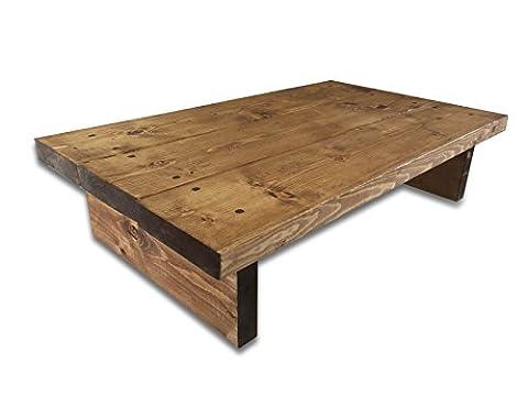 Solid Rustic Handmade Pine coffee table, chunky oak effect finish