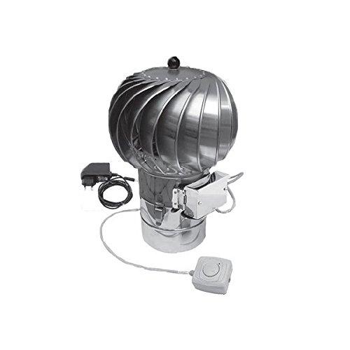 200mm hybride rotatif en acier inoxydable avec ventilation cheminée Moteur électrique