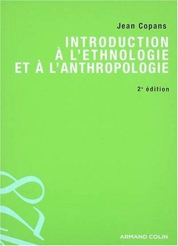 Introduction à l'ethnologie et à l'anthropologie