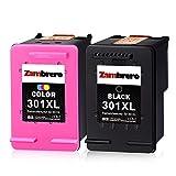 Zambrero Remanufacturado HP 301XL 301 XL Cartuchos de tinta Negro y Tricolor para HP Deskjet 1000...