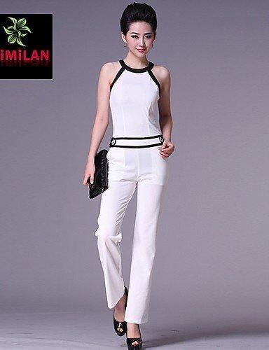 GSP-Combinaisons Aux femmes Sans Manches Décontracté Tricot/Polyester Fin Elastique black-m