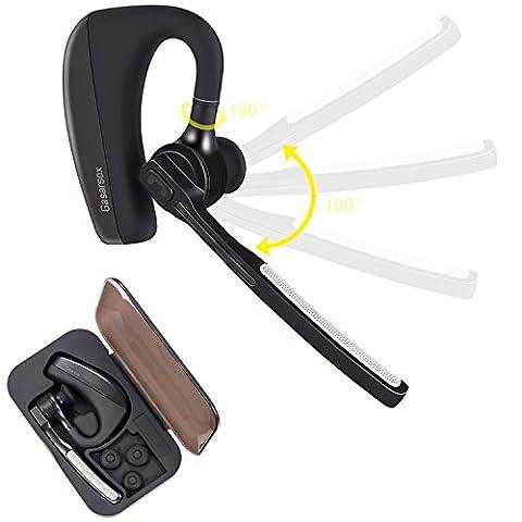 Bluetooth Kopfhörer, Gasarsox K10 Hände frei Im-Ohr Hörmuschel Für Fahrer / Geschäft,9 Stunden Batterie mit Mic,Gepaart mit Android Phone(Tragekoffer enthalten)