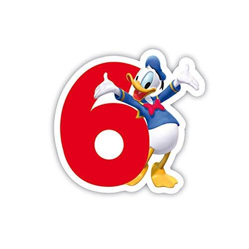 rte Geburtstagskerzen Nr.6 (Geburtstagskerzen Zahl 6)