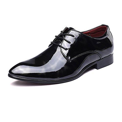 Fashion Classic Oxford Schuhe Die seidige abstrakte Malerei der Männer verblasst nicht Komfort PU-Lederschuhe klassische binden niedrige Spitzenfutter offizielle Geschäft Oxford-Schuhe Retro Temperame -
