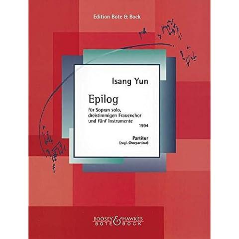 Epilog fr Engel in Flammen (1994). Partituras para Conjunto de Escuela