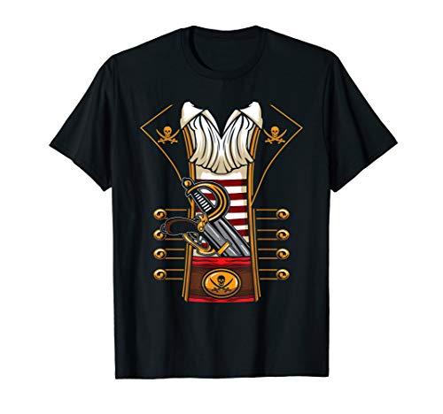 Piraten Freibeuter Halloween DIY Kostüm Design T-Shirt (Diy-t-shirt Für Halloween)