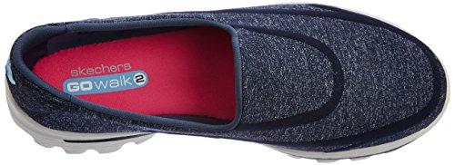 Skechers Go Walk 2-Super Sock, Baskets Basses Femme Bleu (nvgy)