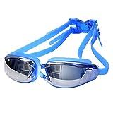 Romote Schwimmbrille Schwimmbrille Anti-Fog Undichte Keine UV-Schutz Breite Ansicht Schwimmbrille für Frauen-Mann Erwachsene Jugend Kinder Blau