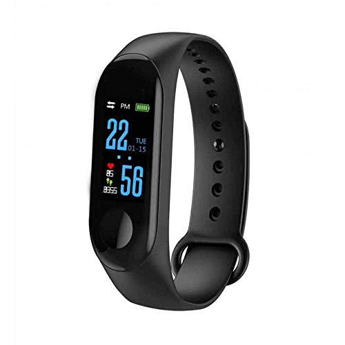 Vomoco SSTM3 Intelligence Bluetooth Fitness Smart Band with Activity Tracker | Heart Rate Sensor | Step Count & More Features Compatible with All Android,iOS & Windows Device (Black)