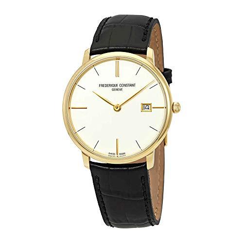 Frederique Constant Men's Slimline 38mm Leather Band Quartz Watch FC-220BV5S5