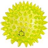 LED Bola para los perros Bola del masaje Bola Antiestrés con efecto de luz LED de color amarillo por la marca PRECORN