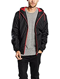 Urban Classics Contrast Windrunner Jacke black-red- 3XL