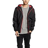 Urban Classics Contrast Windrunner Jacke black-red- L