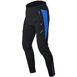 Lixada Hombres Pantalones de Ciclismo Largos Térmico Respirable Cómodo