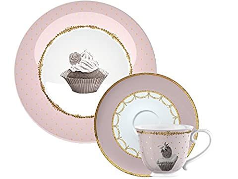 Creative Tops Katie Cupcake Alice Couture Afternoon Tea Set cadeau à Hat Box