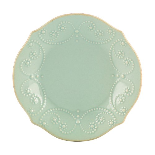 Lenox French Perle Tidbit Plate, Ice Blue by Lenox Lenox Blue Plate