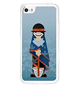 Fuson Designer Back Case Cover for Apple iPhone 5c (Funny Man Unique Person GArdener Blue GArdener Standing Gardener)