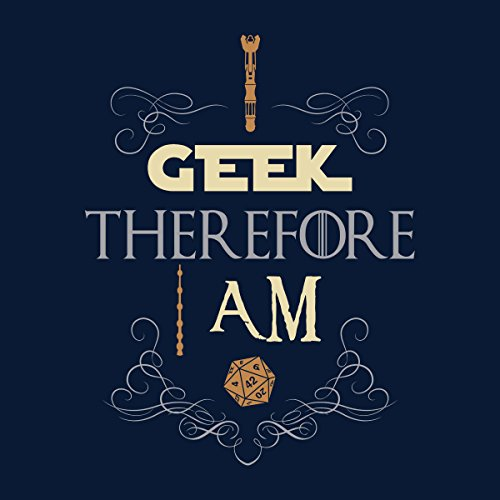 I Geek Therefore I Am Fantasy Men's Vest Navy Blue