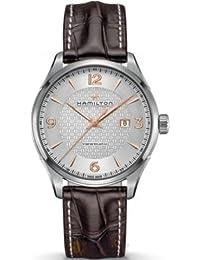 h32755551Hamilton Jazzmaster Automático Plata Dial marrón reloj para hombre de piel