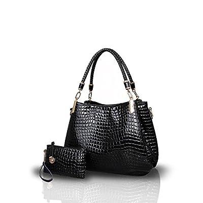 NICOLE&DORIS New Crocodile Grain PU cuir Femmes / Ladies sac à main bandoulière Totes Grand sac