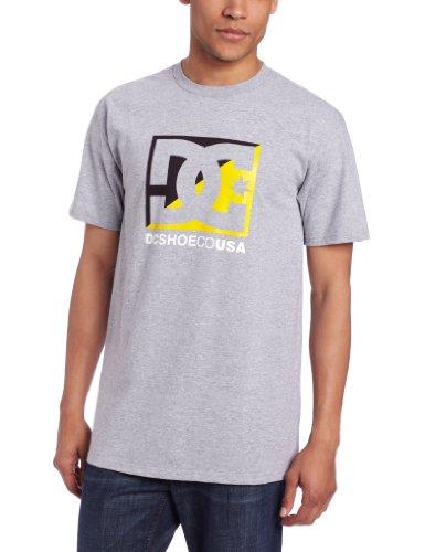 DC - - Junge Männer Kreuz Sterne T-Shirt Heather Grey / Deep Blue