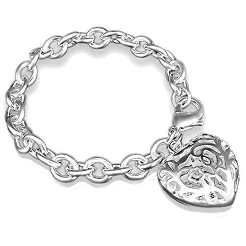 Preisvergleich Produktbild hydaa Fashion Jewelry Armband Charm Hohl Herz Eleganz für Party Frauen Teens Mädchen Christmas Gifts