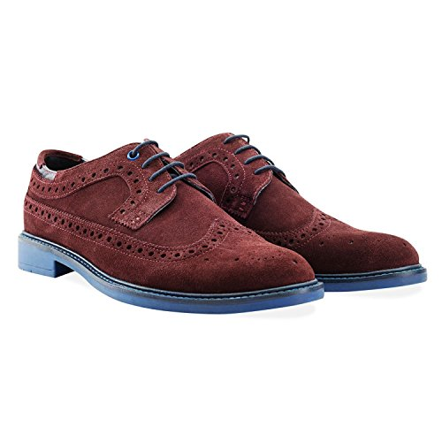 Goodwin Smith Baaxendale Suède Homme Mocassin Burgundy