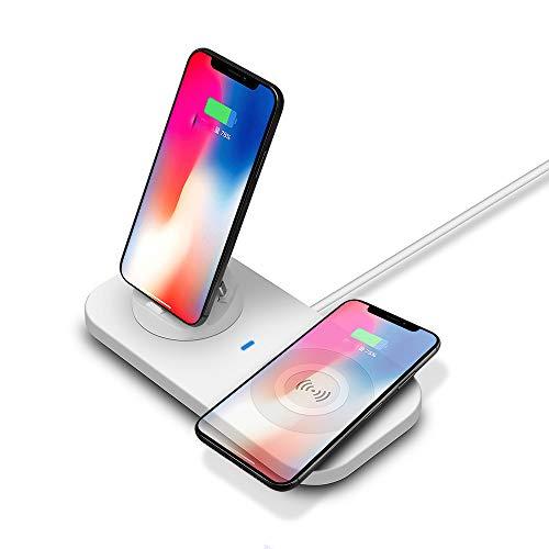 ZUZU Drahtloses Handy-Ladegerät, Ladestation kompatibel mit iPhone XS Max/XR/XS/X / 8/8 Plus, Samsung Galaxy S10 / S10 + / Note9 / S9 / S9 + / Note8 / S8 / S8 Plus / S7 / S7 Edge (Ladestationen Für Samsung)